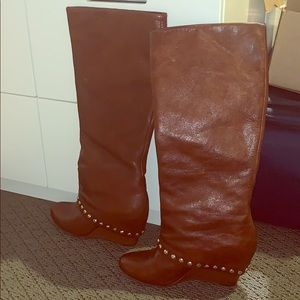 BCBG brown knee high boots